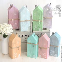 Wood Crafts Interior wooden houses / Buy Interior houses with wooden . Wood Block Crafts, Wooden Crafts, Wood Projects, Diy And Crafts, Interior Design Your Home, Tree Interior, Kitchen Interior, Half Painted Walls, Painted Wood