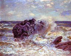 'The Wave, Lady s Cove, Langland Bay', öl auf leinwand von Alfred Sisley (1839-1899, France)