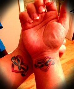 Heart Wrist Tattoos | Heart/Infinity Tattoos