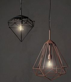 pols potten diamond lamp Black & copper