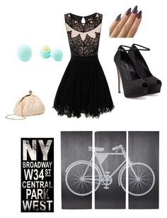 """DARE TO DATE IN THE CITY"" by pandabellapanda ❤ liked on Polyvore"