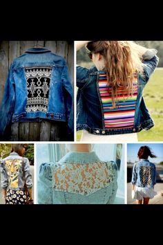 DIY jean jacket