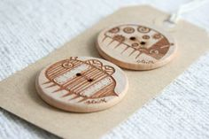 Scottish Gifts - Bug and Bee Buttons by Gabrielle - Illustrator
