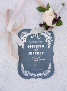 Elegant wedding invitation.
