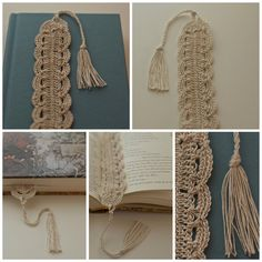 Crochet Lace Bookmark. No pattern given on this, but was able to re-create from the pictures.  MM Jan 2013