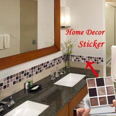 Decorson Turkish Style Bathroom Kitchen Art Tile Stickers,10pcs//Set,5.9