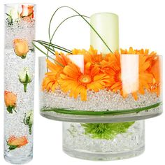 Vase Filler: Clear Water Crystal Pearl (10 oz) - Water Beads, Jelly Beads #GlassVasesDepotcom