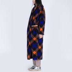 Купить Ch005 оригинальный дизайн 2016 пальто длиной макси негабаритных халат женщин плед шерстяное пальто зимаи другие товары категории Шерсть и сочетанияв магазине Irina's boutiqueнаAliExpress. Зима и зима бин