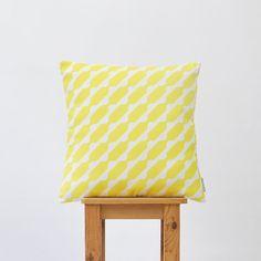 Modern Decorative Pillow Yellow Throw Cushion by LoveJoyCreate
