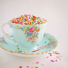 simply because I love teacups and sprinkles.