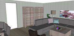 Creëer ruimte door twee half hoge kasten te plaatsen.