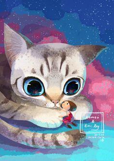 Little Oil Art — tenthbirthday:     littleoil: the cat i love named...      https://www.inprnt.com/gallery/littleoil/