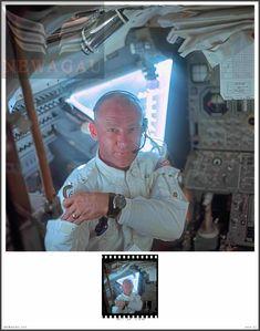 NASA Apollo 11 Silver Halide Photo & Free Positive Buzz Aldrin By Armstrong - Ideas of Apollo 11 Apollo 11 Moon Landing, Apollo 11 Mission, Buzz Aldrin, Flag Photo, Neil Armstrong, Nasa, Positivity, Smile, Free
