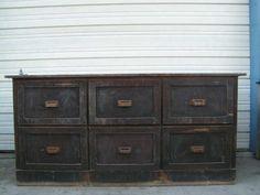 vintage old antique oak twelve drawer counter store bin cabinet would make an awesome kitchen work center island