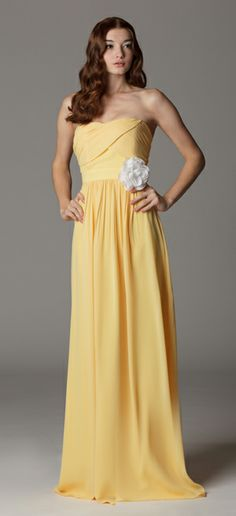 Strapless sweetheart bridesmaid dress with built in waistband.  Ariadress.com. These are the choice of bridesmaids dresses. This color but the knee length versions of each.