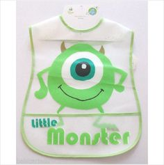 Disney Monsters Inc large bib with crumb catcher Mike baby boy girl on eBid United Kingdom