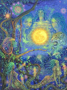 JheffAu Spiritual Paintings, Psy Art, Spirited Art, Spiritus, Mystique, Visionary Art, Sacred Art, Psychedelic Art, Dark Art