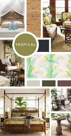 Your Ultimate Guide to Interior Design Styles: Tropical- Loving the idea of an ocean-inspired space, but coastal isn't quite what you have in mind? Then tropical is the way to go. But your space doesn't need to scream that your a Jimmy Buffett fan if Interior Design Blogs, Mood Board Interior, Estilo Interior, Vintage Interior Design, Interior Design Inspiration, Interior Decorating, Moodboard Interior Design, Design Ideas, Decorating Tips
