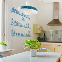 déco murale cuisine avec des stickers muraux