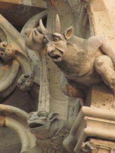 Religious superstition ...... adopting creepy creatures to scare away evil spirits....... !