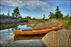 Peterborough Canoe Wood Canoe, Canoe Boat, Canoe And Kayak, Kayak Fishing, Kayaking Gear, Canoeing, Canada Pictures, Boat Stuff, Water Life