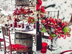 свадьба зимой - red winter wedding
