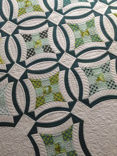Pretty quilt pattern. I like the shapes.