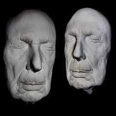 Vincent Price Life Mask Rare Last Taken Before Death Light Weight White Resin |