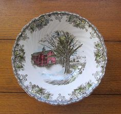 Friendly Village Serving Bowl Autumn Mists Johnson Bros China Made In England