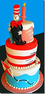 great cat in the hat cake