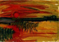 Emil Nolde - Sunset