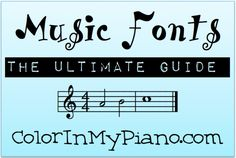 A blog post about where to get music fonts and how to use them -- so you create your own music worksheets!