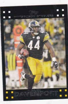 Najeh Davenport 2007 Topps NFL Card #97 (Pittsburgh Steelers) Topps…