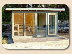 Saunen, Designsauna, Sauna-Bausatz, Saunen für Außen, Außensaunen