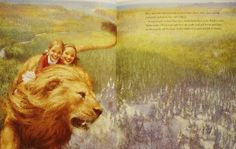 riding on the back of aslan - Google Search