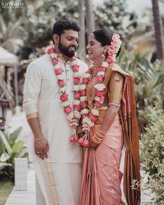 Flower Garland Wedding, Rose Petals Wedding, Red Rose Wedding, Moon Wedding, Wedding Groom, Wedding Couples, Wedding Garlands, Dream Wedding, Indian Wedding Couple