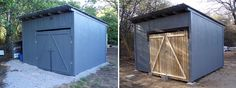 Use old pallets as a base for your backyard shed!