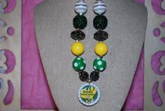 Chucky Bead Bottle Cap Necklace  Oregon Ducks  by beadazzledkiddos, $17.00