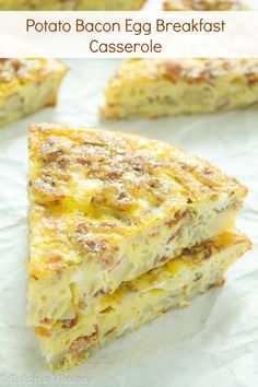 Savory breakfast casserole is a great way to start any day. Any bacon lover will swoop over this bacon potato casserole! Mix it up and make breakfast casserole sausage and save this as one of your favorite breakfast casserole recipes! Bacon Potato Casserole, Easy Breakfast Casserole Recipes, Breakfast Casserole Sausage, Savory Breakfast, Healthy Breakfast Recipes, Brunch Recipes, Gourmet Recipes, Casserole Ideas, Breakfast Ideas