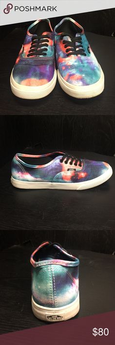 Limited Edition Galaxy Authentic Lo Pro Vans Limited Edition Galaxy Style LoPro Vans shoes. They're in excellent condition, barely worn. Size 7.5 Women's. These are not found in stores anymore and are in high demand. Vans Shoes Sneakers