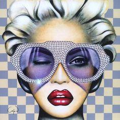 Artiste : Anja Van Herle http://www.anjav.com/  #artnumérique #lunettes #femme