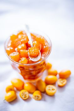 Candied Kumquats with Vanilla and Orange Water Recipe