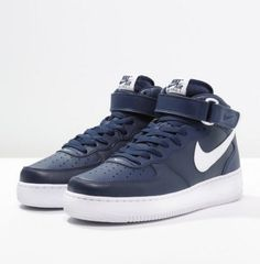 Nike Sportswear AIR FORCE 1 MID '07 Trampki granatowe wysokie midnight navy/white