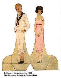 #Papierpuppen mit historischen Kostümen