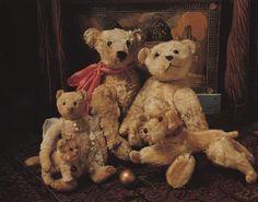 stuffed teddy bears and dog