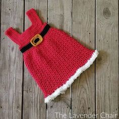 Featured on Free Crochet Pattern Friday: Mrs Claus Winter Dress Toddler - The Lavender Chair