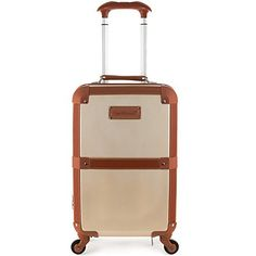 Rockland Stage Coach 20 Inch Rolling Trunk, Champagne, One Size