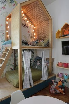 funny bunk beds kids for your child Kids Bedroom Designs, Bunk Bed Designs, Kids Room Design, Bedroom Ideas, Baby Bedroom, Baby Room Decor, Kids Interior, Cool Kids Rooms, Room Kids