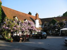 The Bull, Sonning. Miss this place - used to take Denny for walks along the Thames then stop here for a pint!