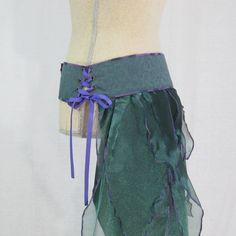 Teal Pixie Bustle Belt, SteamFairy Bustle on Sale! Halloween Costume, Cosplay, Burning Man, Faerie Festival Costume by Triptastica on Etsy